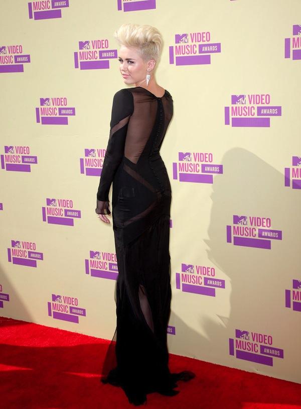 Miley Cyrus MTV VMA Awards 2012 Back
