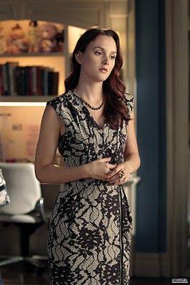 Blair-Waldorf-Gossip-Girl-Clothes-Dress-Bensoni-Black-Gray-Lace