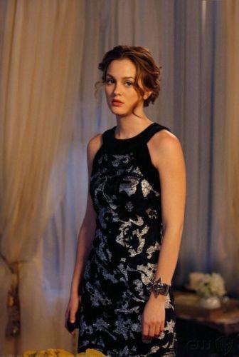 Blair-Waldorf-Gossip-Girl-Clothes-Dress-Milly-Sheath-Silver