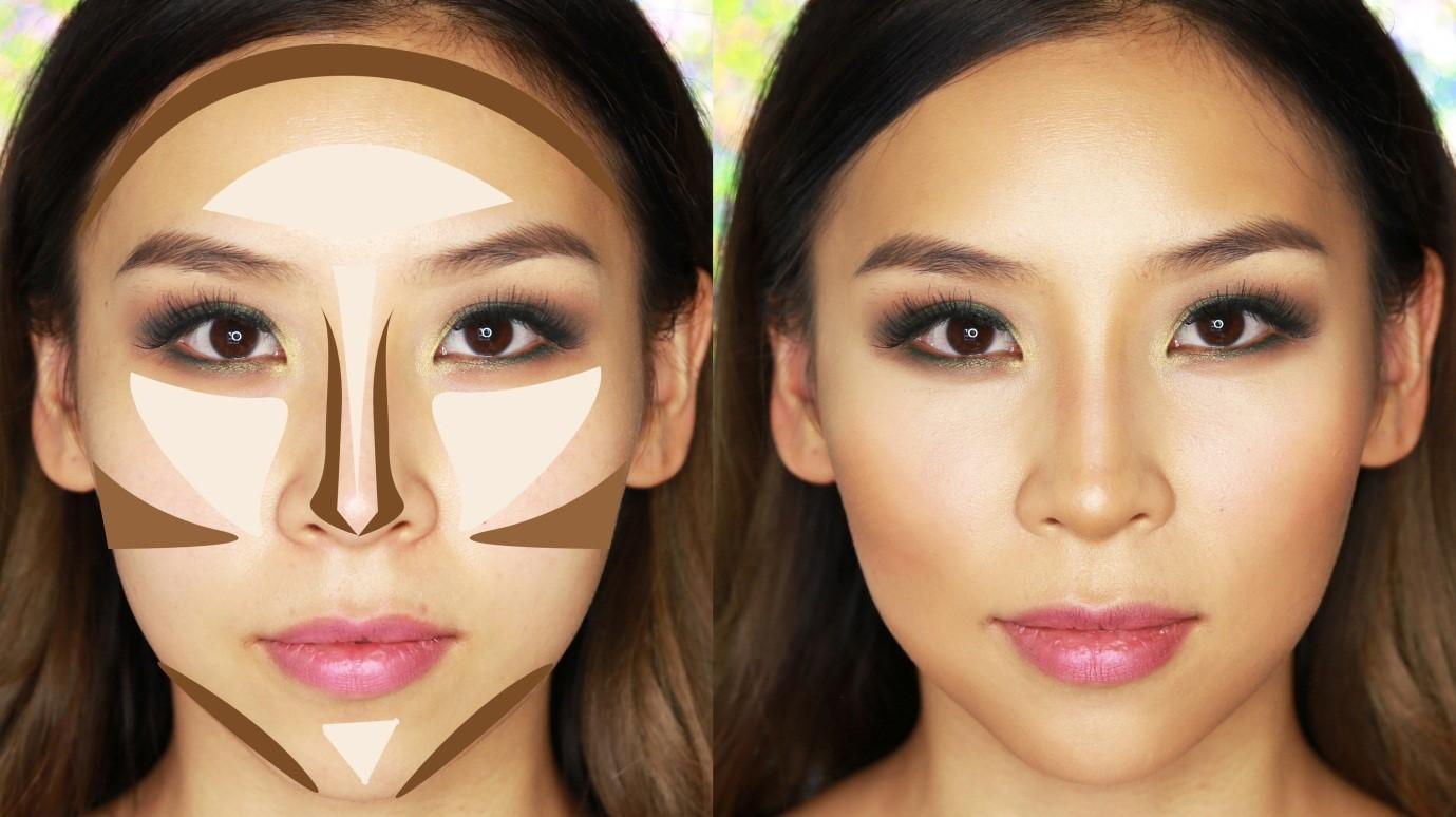 tina yong contouring map face makeup