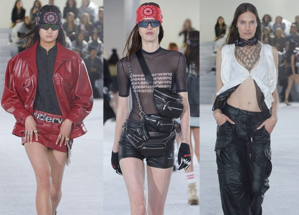 Alexander-Wang-Spring-2019 edgy fanny packs on packs