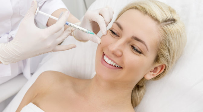 beauty facial injections woman