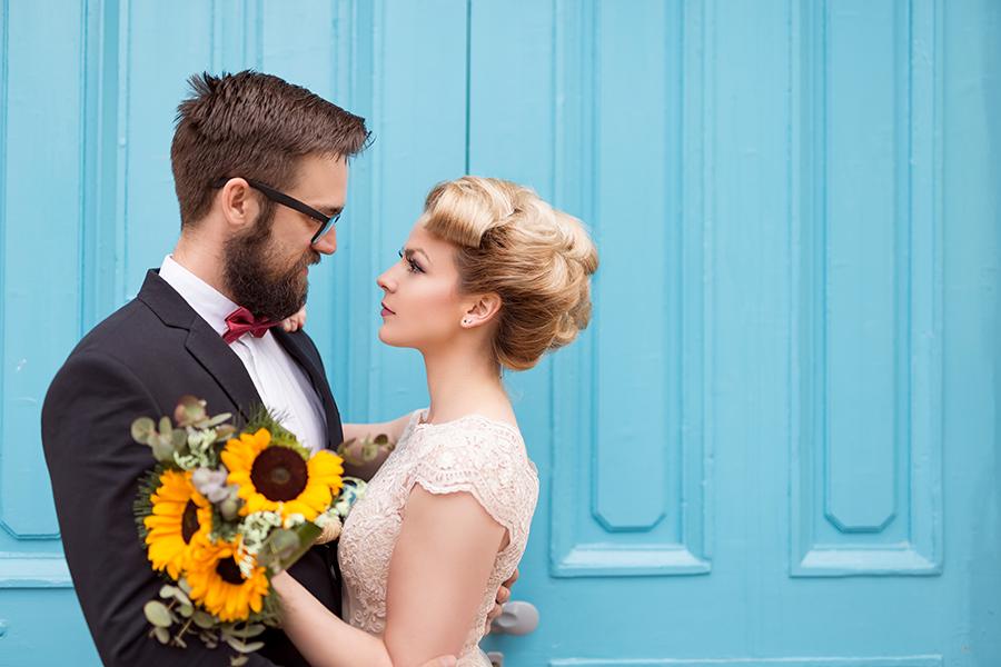 Beautiful vintage bridal wedding style