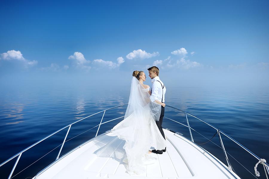Yacht boat wedding