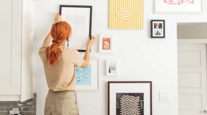 redhead hanging picture frame