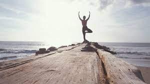lady doing yoga